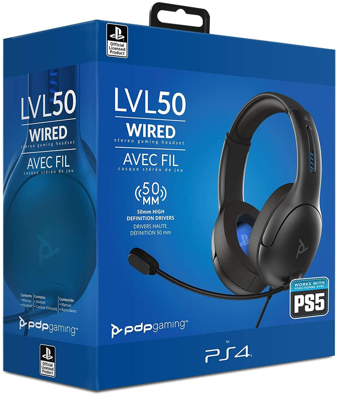 LVL50 Wired Headset Grey (PS4)