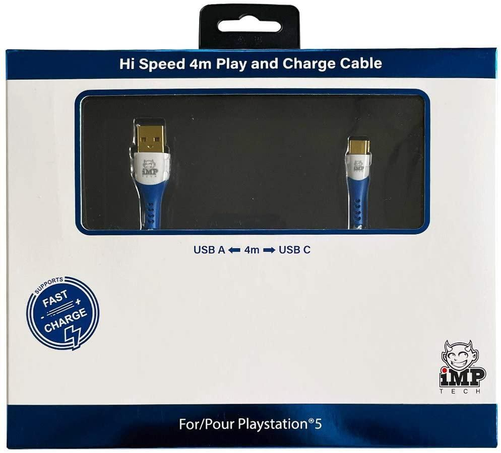 iMP Tech High Speed 4 Metre Play & Charge Cable (PS5)