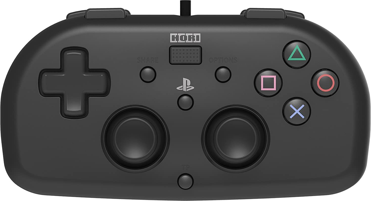 HORI Officially Licensed PlayStation 4: Wired Mini Gamepad - Black (PS4)