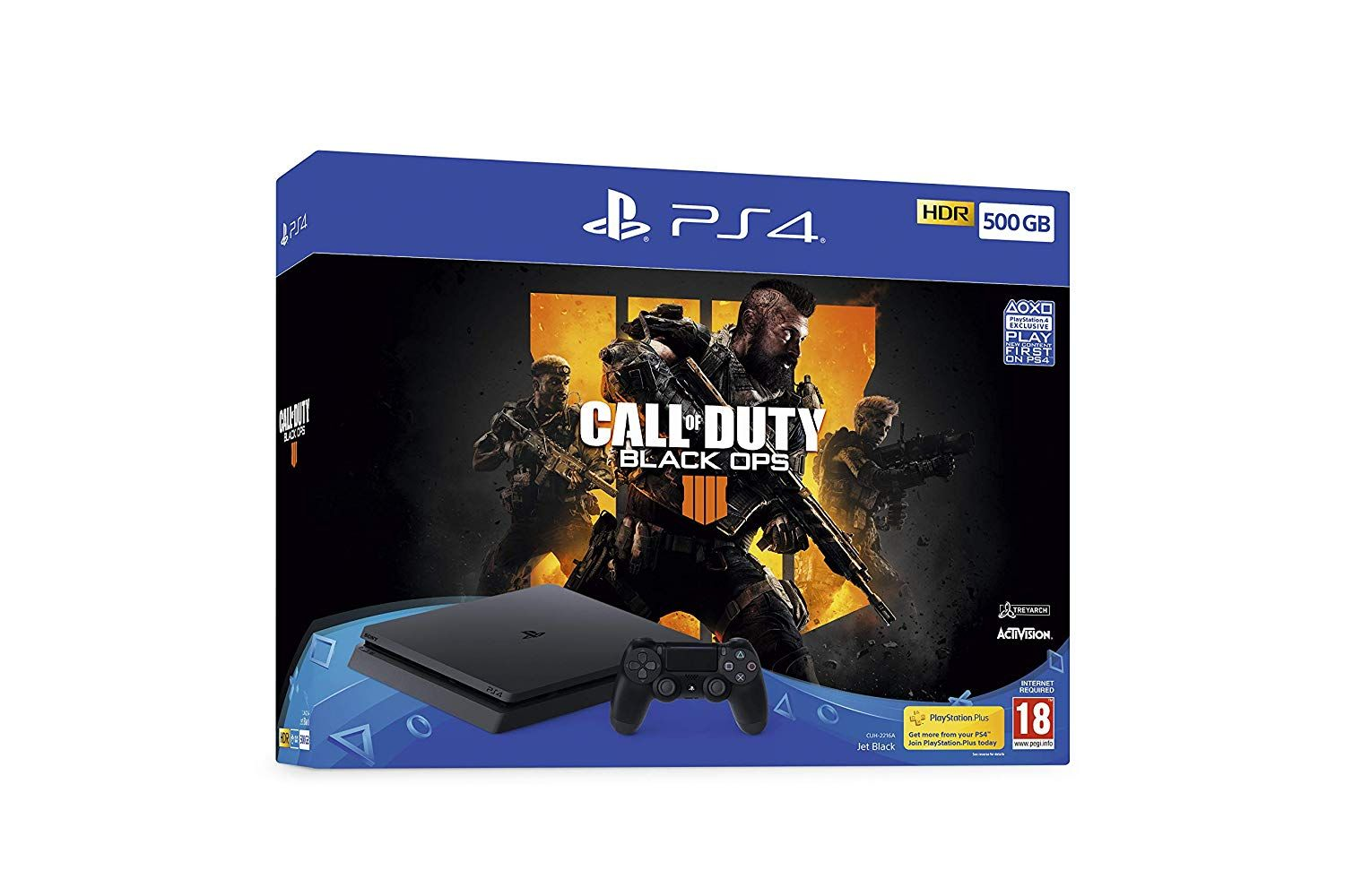 PlayStation 4 500GB with Call of Duty Black Ops 4 (PS4)