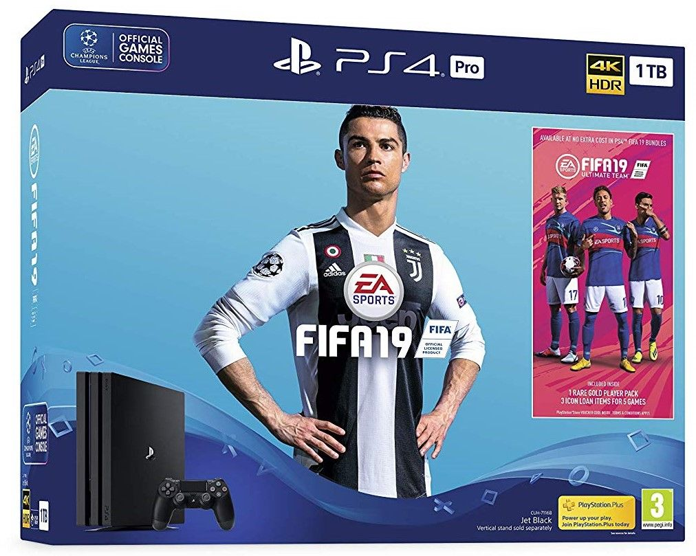 PlayStation 4 Pro 1TB Console with FIFA 19 (PS4)