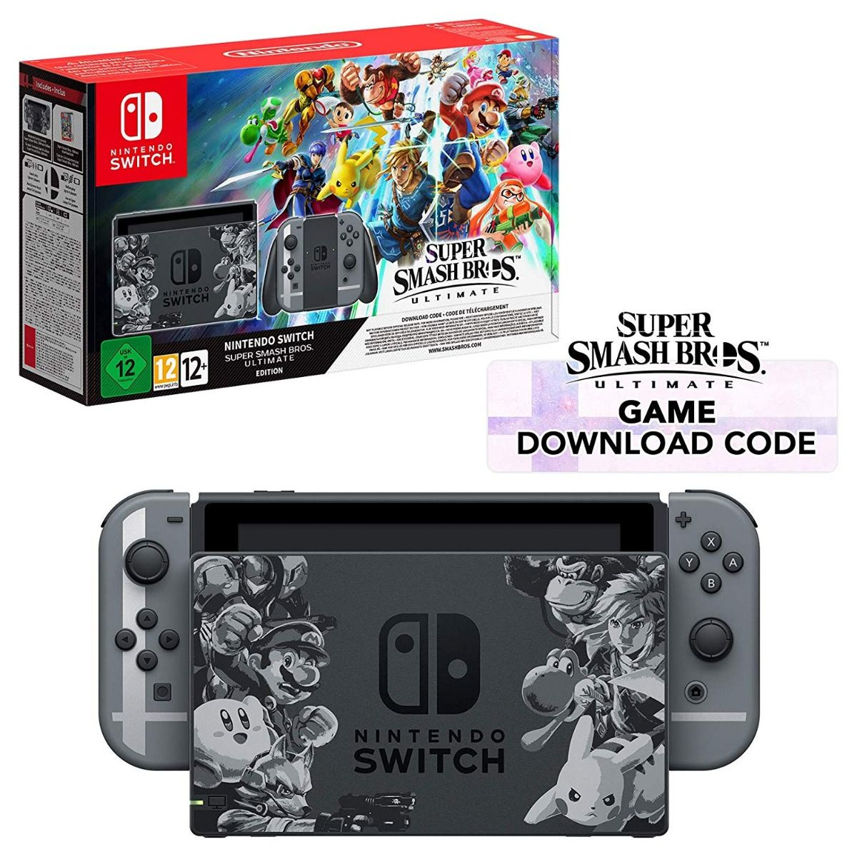 Nintendo Switch Console with Super Smash Bros. Ultimate Edition