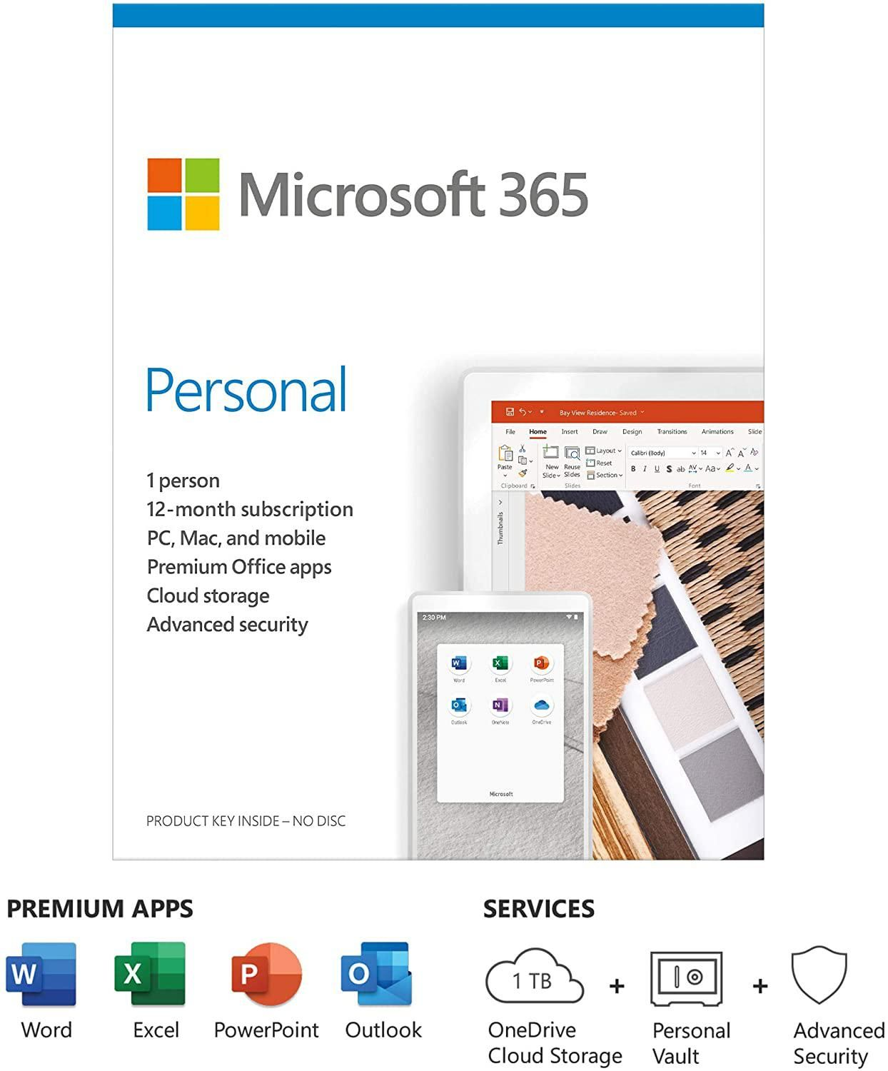Office 365 Personal 1 User/1 Year (PC/Mac)