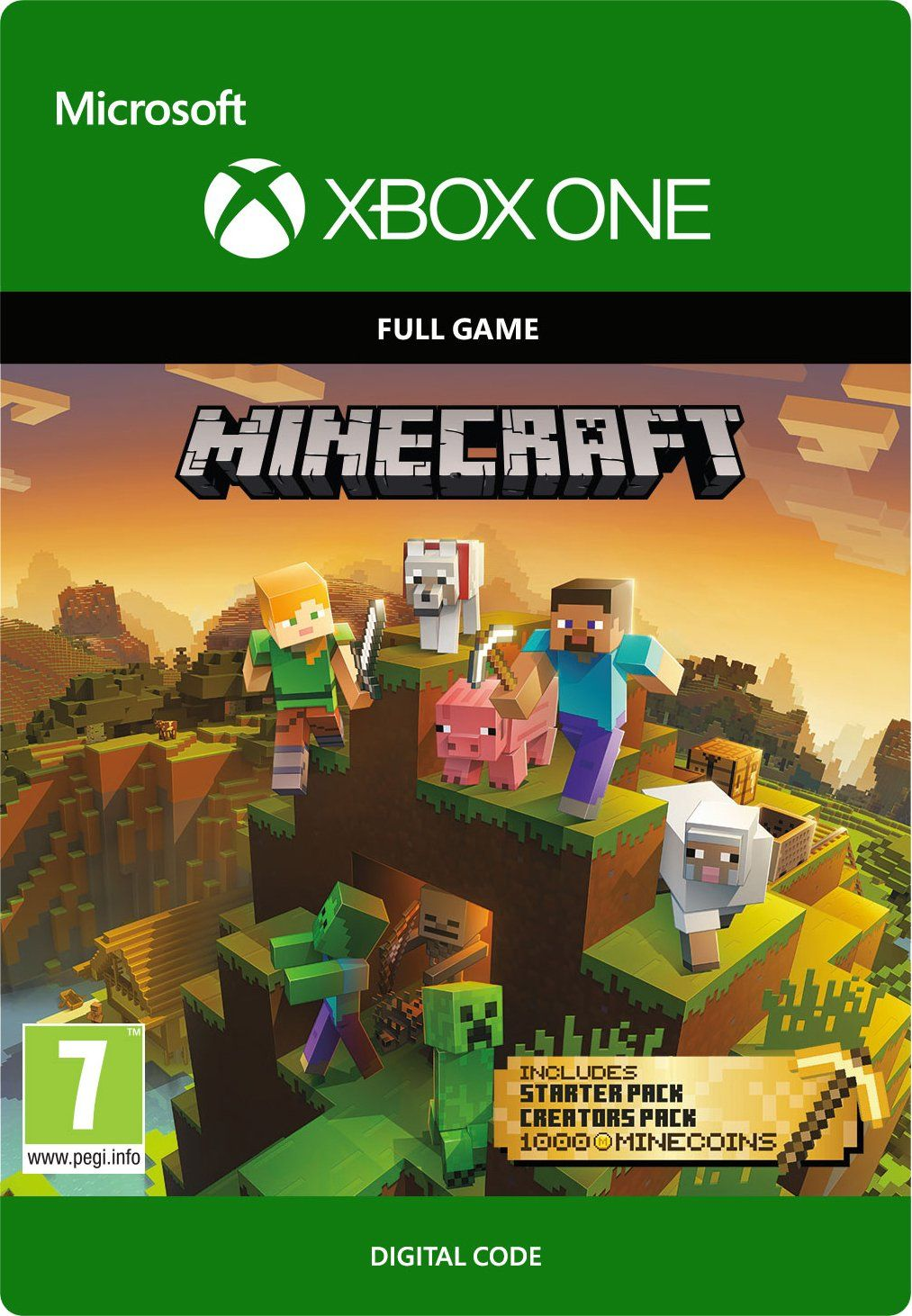 Minecraft Collection Creations Pack, Minecoins, Starter Pack (3x DLC) (Xbox One)