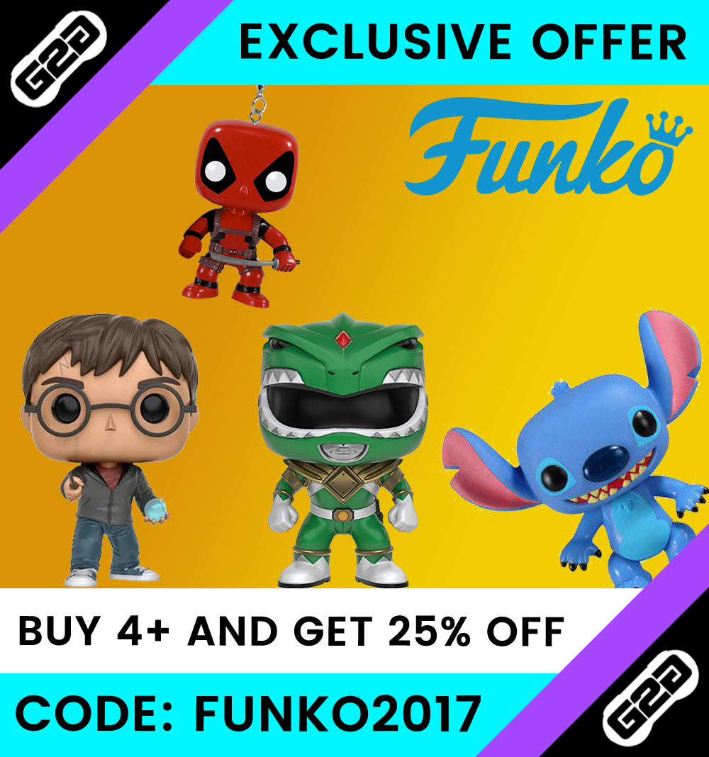 Buy 4 or more Funko products and get 25% off!